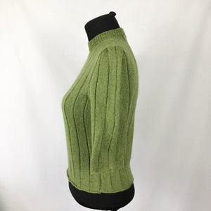 Reproduction 1940s Wartime Jumper in Turtle Green - Bust 33 34 35 36
