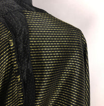 Load image into Gallery viewer, 1950s Black and Gold Polka Dot Dress - B38
