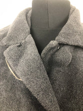 "Load image into Gallery viewer, 1940s Grey Faux Fur ""Teddy Bear"" Coat - Bust 38 40 42"