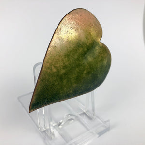 1930s 1940s Copper Autumnal Leaf Brooch