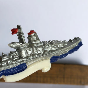 Vintage Early Plastic Battle Ship Brooch