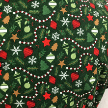 "Load image into Gallery viewer, 1940s Reproduction Christmas Blouse in Riley Blake Cotton - Bust 36"" 38"""