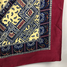 Load image into Gallery viewer, 1940s Gaywear Burgundy Crepe Scarf with Paisley Design