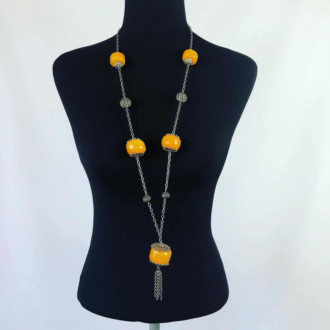 Vintage Early Plastic Necklace - A Statement Piece!