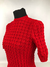 Load image into Gallery viewer, Reproduction 1940s Jumper in Bright Lipstick Red - B 34 36