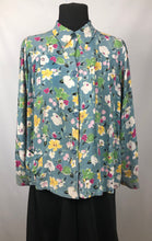 Load image into Gallery viewer, Original 1940s CC41 Floral Crepe Smock - B34 36 38