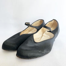 Load image into Gallery viewer, Original 1940s CC41 Black Satin Shoes - Size 7