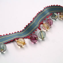 Load image into Gallery viewer, 40mm Multi-Coloured Beaded Fringe Braid BL6176