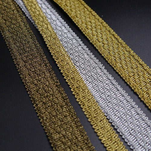 12mm Textured Metallic Braid 6344-12