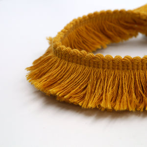 30mm Cotton Brush Fringe for interiors, fashion and accessories 6497