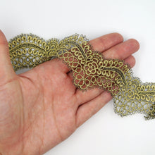 Load image into Gallery viewer, 50mm Metallic Scalloped Lace BL6889