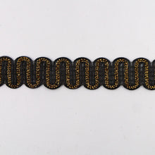 Load image into Gallery viewer, 15mm Metallic Wiggle Braid 7223