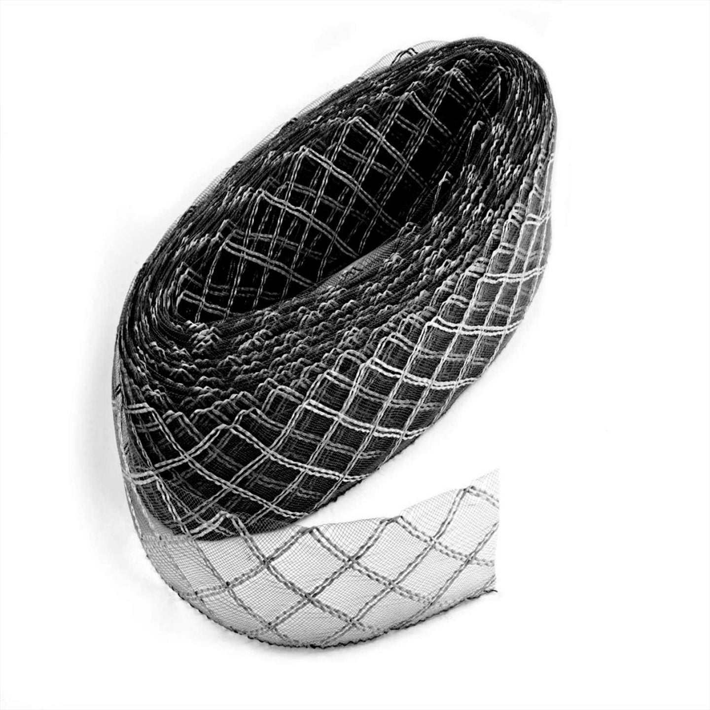 Crinoline braid fabric rafia wedding millinery fascinator hat birdcage net BR019