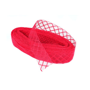 Crinoline braid fabric raffia wedding millinery fascinator hat birdcage net BR029