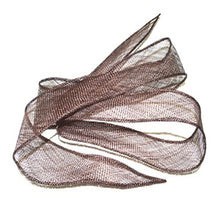 Load image into Gallery viewer, Sinamay shush trim hand rolled edges for millinery fascinator wedding hats BR055