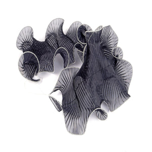 Overlocked Pleated Organza Shush Trim for Hats Fascinators and Millinery BR059