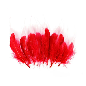 Tip Dyed Goose Feather, 10Pcs for Hats Fascinators and Millinery FE005