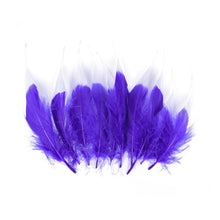 Load image into Gallery viewer, Tip Dyed Goose Feather, 10Pcs for Hats Fascinators and Millinery FE005