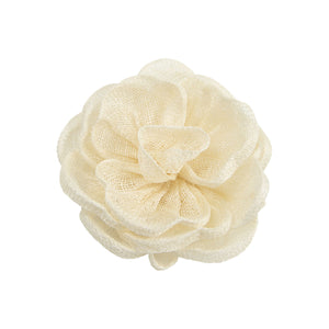 Hand made sinamay cabbage rose flower for millinery fascinator wedding hat FL007