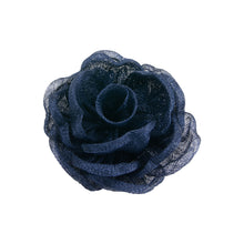 Load image into Gallery viewer, Hand made sinamay cabbage rose flower for millinery fascinator wedding hat FL007