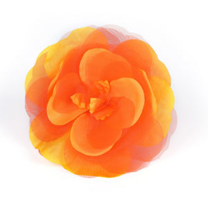 Two tone polyester organza flower for millinery fascinator wedding hats FL015