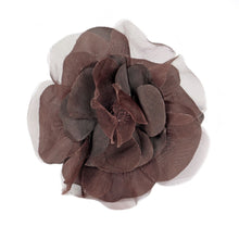 Load image into Gallery viewer, Organza And Taffeta Flower Corsage for Hats Fascinators and Millinery FL022