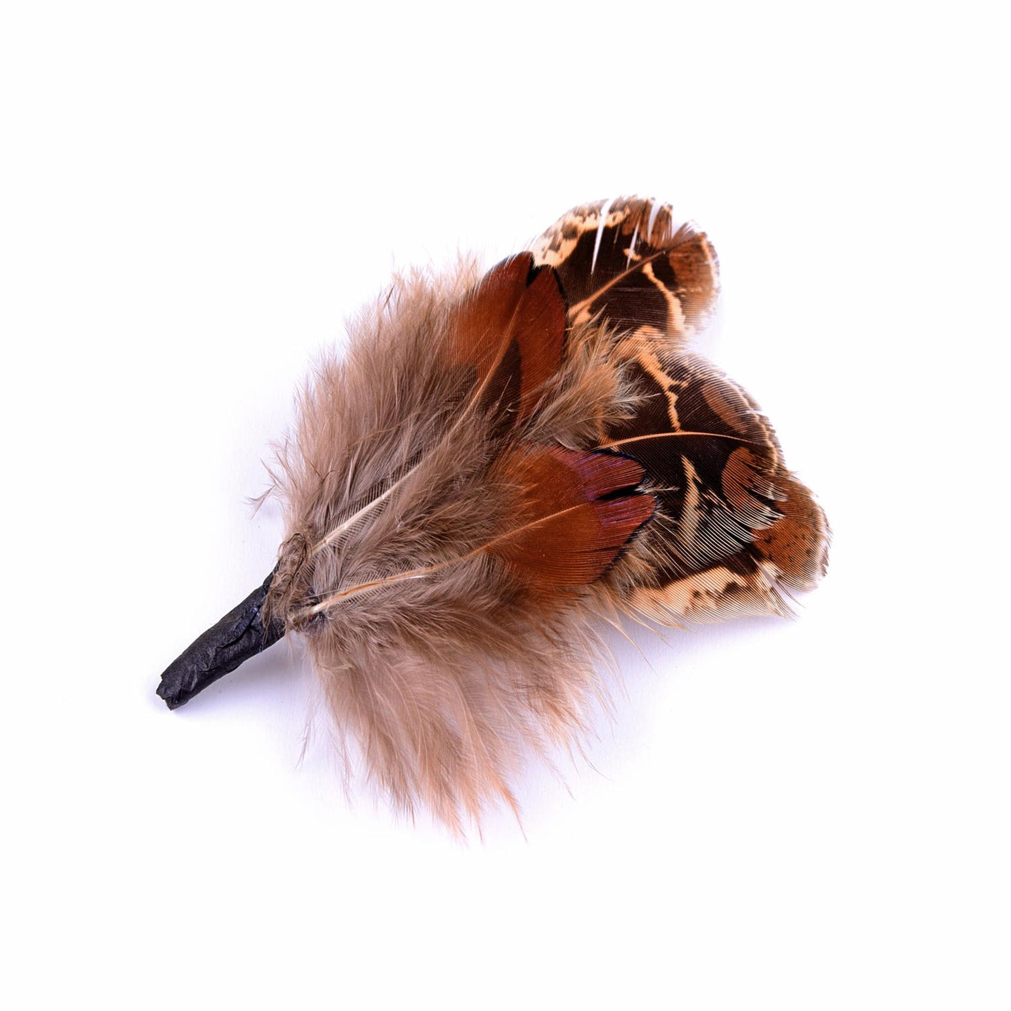 Small pheasant feather mount trim for millinery fascinator wedding hats FM003