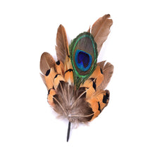 Load image into Gallery viewer, Medium pheasant feather mount trim for millinery fascinator wedding hats FM012