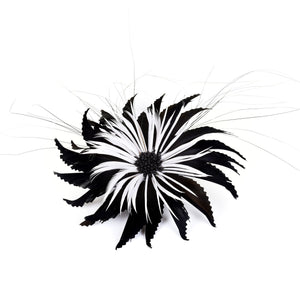Goose & biot feather two tone flower for millinery fascinators wedding hats FM021