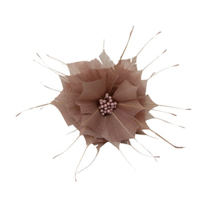 Goose feather rose flower for millinery fascinators wedding hats FM024