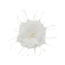 Load image into Gallery viewer, Goose feather rose flower for millinery fascinators wedding hats FM024
