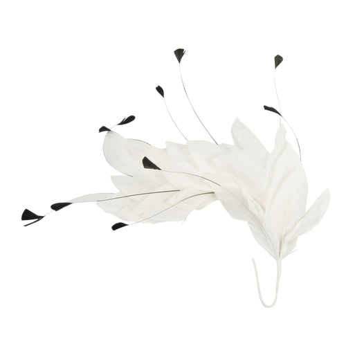 Goose feather and teardrop coque mount millinery fascinator wedding hats FM040
