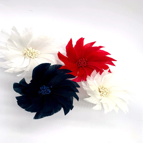 Goose feather spiky flower for millinery fascinators wedding hats FM044
