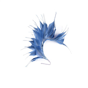 Goose spiky feathers and coque mount for millinery fascinator wedding hats FM045