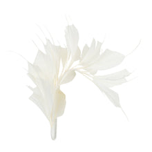Load image into Gallery viewer, Goose spiky feathers and coque mount for millinery fascinator wedding hats FM045