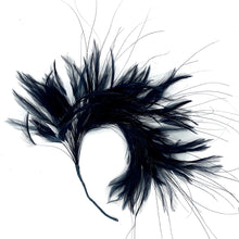 Load image into Gallery viewer, Feather Mount Hackle And Burnt Peacock Hair for Hats Fascinators and Millinery FM050