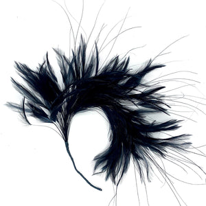 Feather Mount Hackle And Burnt Peacock Hair for Hats Fascinators and Millinery FM050