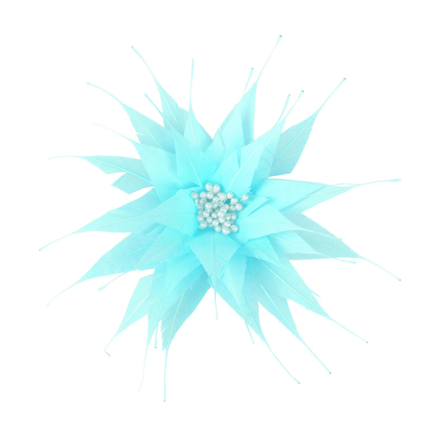 Spiky feather flower for Hats Fascinators and Millinery FM052