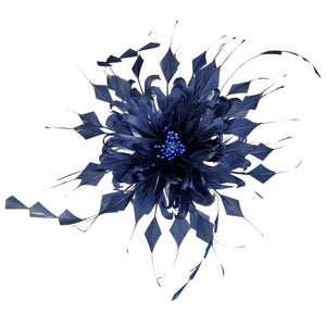 Curly goose and coque feather flower for Hats Fascinators and Millinery  FM054