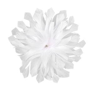 Rounded goose feather flower for Hats Fascinators and Millinery  FM055