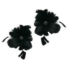 Load image into Gallery viewer, Goose feather strip coque flowers for millinery fascinators wedding hats FM079