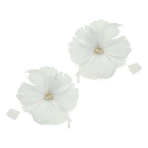 Goose feather strip coque flowers for millinery fascinators wedding hats FM079