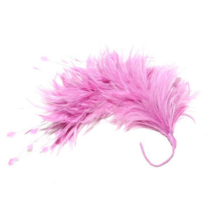 Hackle feather and teardrop coque mount millinery fascinator wedding hats FM080