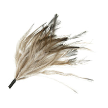 Load image into Gallery viewer, Dyed coloured emu feather brush mount for millinery fascinator wedding hat FM084