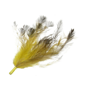 Dyed coloured emu feather brush mount for millinery fascinator wedding hat FM084