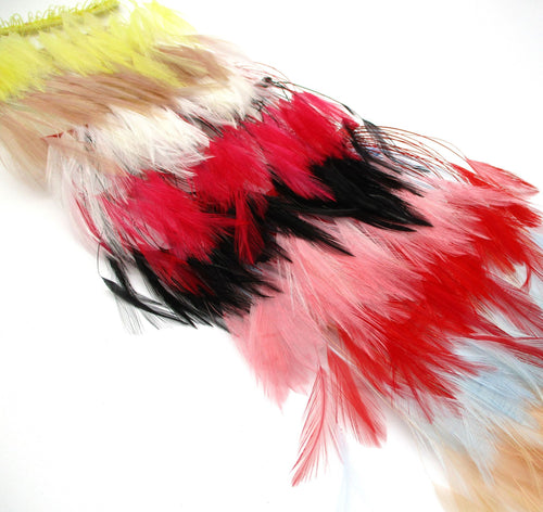 Delicate Stripped Hackle Feather Fringe FR001