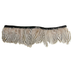 Pinstripe Silver Tail Pheasant Feather Fringe for Hats Fascinators and Millinery FR014