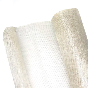 Hand Woven Stiff Sinamay Fabric With Silver Lurex Thread, 1m X 90cm for Hats Fascinators and Millinery FS040