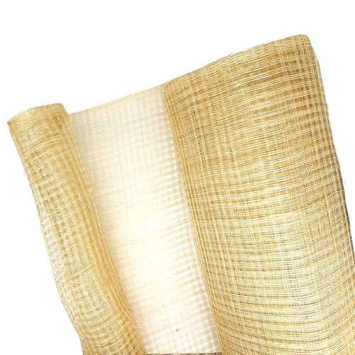 Natural Sinamay Lattice 90cm Wide X 1m, Hand Woven & Unstiffened for Hats Fascinators and Millinery FS042