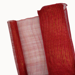 Hand Woven Stiff Sinamay Fabric With Gold Lurex Thread, 1m X 90cm FS065